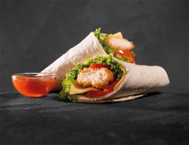 Foto Hot chicken wrap